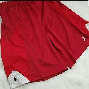 Nike Air Jordan Red White Shorts Size Large